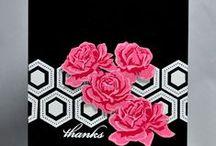 Cards...Floral Multistep stamps