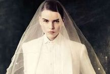SUIT STYLE / Hermione Harbutt Bridal Inspirations for future brides who imagine a suit style wedding outfit.