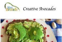 Creative Avocados / Avocados with Yum-Appeal.  Look for creative avocado ideas at http://www.mimiavocado.com / by Mimi Avocado