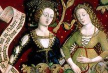15th Century - German/Austria / Artwork of 15th century German fashion.