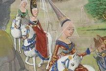 15th Century - French/Burgundian/Flemish / Artwork of French/Burgundian/Flemish fashion in the 15th century