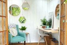 Modern Garden Office Interior Ideas / Discover plenty of garden office inspiration right here. From greenhouses to sheds and workspaces to seating, you'll find loads of modern garden office interior ideas in this board