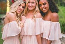 Bridesmaids Outfit Ideas / Discover plenty of simple bridesmaid outfit  inspiration right here for any beautiful, modern wedding theme. You'll find loads of bridesmaid photo ideas on this board.