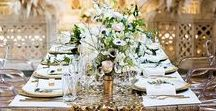 Wedding Table Settings / Discover plenty of wedding table decor inspiration for any creative, modern wedding. From table numbers to place settings and menus to centrepieces, you'll find loads of wedding tablescape ideas on this board.