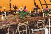 Rustic Tipi Marquee Garden Wedding / Discover plenty of garden wedding inspiration right here for any rustic outdoor wedding theme. You'll find loads of tipi and marquee wedding ideas on this board.