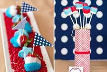 Fourth of July Party / Red, white and blue galore! Celebrate the 4th of July in style with these fun recipes, crafts and tips! Check out fun summer products from the shop and fun ideas from our blog!