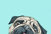 Paintings Of Dogs / Awesome illustrations, paintings, prints, and photos of man's best friend.