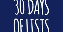 30 Days of Lists / #30daysoflists journaling challenge