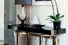 Console Vignettes / An accessorized table designed to fit against a wall or a couch. / by Deette Kearns