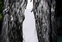 Black, Black/White Fashion / A popular trend in styles of dress / by Deette Kearns