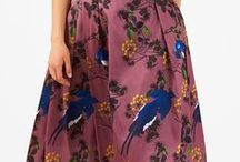 Skirt 'em around / Skirting style! Unbelievably fun to wear, flouncy shapes in vibrant colors with whimsical embellishments and twirl-worthy pleats.