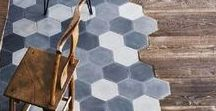 Tile Obsession / My tile crush. Floors, walls, fireplaces, surfaces...just clad it all.