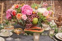 Eye-Catching Tables/Decor / We eat with our eyes! Nothing is more inviting than a beautifully set table...no matter whether it's a simple or elaborate setting.