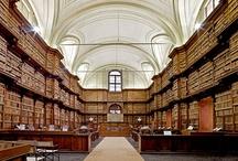 Bibliotheken, boekhandels, boekenkasten