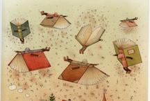 Boek en kunst / Affiches, posters, tekeningen, schilderijen, beelden