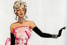 Travilla's Marilyn Sketches