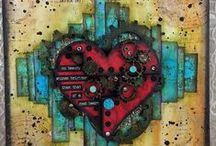 Art: Mixed Media Canvases / decorative projects made on a canvas or substrate of some sort.