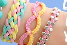 Jewelry: Macrame, Knotting, Wrapping Bracelets & Cuffs / Many of the below bracelets, because they are made to wrap around the wrist many times, they would also make lovely necklaces.