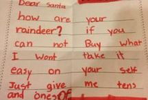 Letters to Santa / Check out these hilarious children's letters to Santa. Sometimes kids write the darndest things!