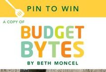 #BudgetBytes / Pin-to-Win a copy of BUDGET BYTES by Beth Moncel! Share images and recipes that give you the biggest Bang for Your Buck! For Official Rules and complete details visit: penguin.com/budgetbytes