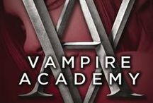 Vampire Academy / Two races of vampires walk our world. One, the Moroi, are alive and wield elemental magical. The other, the Strigoi, are undead and evil—feeding on the innocent to survive. www.vampireacademybooks.com / by Penguin Books USA