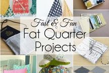 Fat Quarters for Sewing / Fat Quarters and Fabric Pre-Cuts Quilts, DIY projects, sewing projects, and simple sewing projects. Lots of FREE quilting patterns for beginners.
