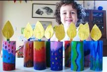 Happy Hannukah / Celebrate the Festival of Lights with some fun arts and crafts to make to with the kids.