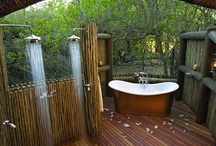 Outdoor tubs & showers / designs for hot tub spa area  / by andie jay