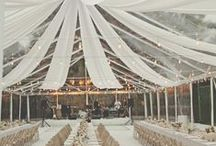 Ideas:Wedding tents / If you are a bride striving to create a one-of-a-kind celebration, filled with the personal touches that result in a truly unforgettable occasion for yourself and your guests... follow our Official Mon Amie Bridal Salon boards for the hottest trends, inspiring visuals, fresh tips, original and clever ideas!!!