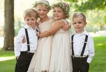 Idea:Flowergirls and Ring Bearers / If you are a bride striving to create a one-of-a-kind celebration, filled with the personal touches that result in a truly unforgettable occasion for yourself and your guests... follow our Official Mon Amie Bridal Salon boards for the hottest trends, inspiring visuals, fresh tips, original and clever ideas!!!