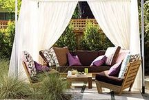 Outdoor Curtains, Rugs, Pillows!