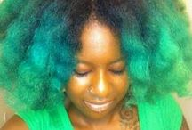 Colored Natural Hair / We all like a pop of color, don't we? / by Diane A.