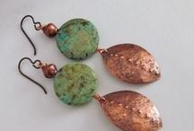 Earrings handmade / Handmade earring designs ideas / by andie jay