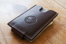 Handcrafted // Wallets / Bifold wallets, trifold wallets, and money-clips. Leather and canvas.