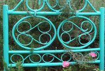 Repurposed Garden /  Thrift Store Trash to Treasure in the Garden