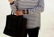 Stripes. / Outfit with stripes / by Diane A.