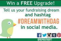 #DreamWithDAG / Deposit a Gift was built to help people achieve their dreams through crowdfunding. For summer 2015, we're launching the #DreamWithDAG promotion to reward you for sharing your fundraising dreams with us! Just hashtag #DreamWithDAG in social media and we'll respond with a promo code worth $149 for your next campaign. / by Deposit a Gift