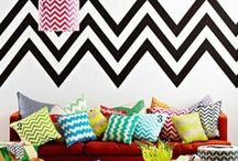 Chevrons are Chic! / Classically chic zig zag patterns
