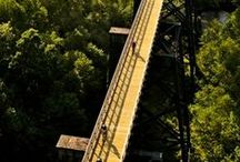 """BRIDGES IN THE U.S.A. & AROUND THE WORLD / Bridges from around the World and many in the U.S.A.  I have such a """"fear"""" of heights, not sure that I would cross some of these but they just look so neat! / by Jjean"""