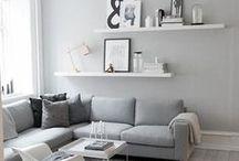 Grijs / grijs in het interieur