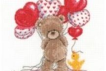 Valentine's Day Stitches / Perfect cross stitch kits for valentines and any time you want to show someone how much you really care! Full range here: http://www.past-impressions.co.uk/cross-stitch-kits/valentines-day/