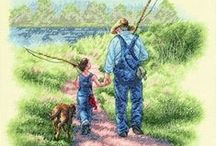 Father's Day Gifts / Treat the Dad or father figure in your life this year with a truly personal cross stitch kit or embroidery set from Past Impressions. http://www.past-impressions.co.uk/cross-stitch-kits/fathers-day/