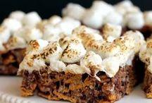 Krispy treats / Marshmallow and rice krispies... Genius Idea...