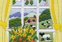 Easter Cross Stitch Kits / Celebrate Easter with these super fun and colourful Easter cross stitch kits. Fabulous alternatives to traditional Easter Egg gifts and cards! View our full range of Easter cross stitch kits here: https://www.past-impressions.co.uk/spring-and-easter/