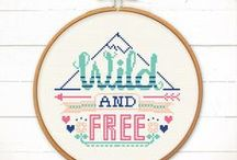 Free Downloadable Cross Stitch kits / Fulfil your stitching obsession with these free downloadable cross stitch kits. Print them off and stitch away! A wide range of different themed designs.