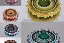 My Lampwork Art / I am a professional lampworker earning my income by creating glass beads and objects one by one in a flame and teaching others to do the same. Check my website www.helengbeads.co.uk to find out about having a go yourself.