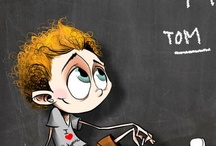 Hash's Humorous Hiddles Handiworks / the wonderful humorous artwork by Hash depicting the popular actor, Tom Hiddleston, in scenes from TV and movies, as well as everyday life.  / by Lori Konecki