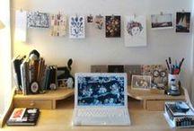 Studio Space / #studio #office #inside #decor #interior #design #homeoffice / by Red Coat Studio