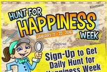 Hunt for Happiness Week / Celebrate Hunt for Happiness Week with us the 3rd full week of January annually: http://sohp.com/society-celebrations/hunt-for-happiness-week/ / by Pamela Gail Johnson