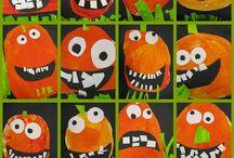 Kindergarten - Pumpkins / Jack-o-lantern / Kindergarten pumpkins and jack-o-lanterns